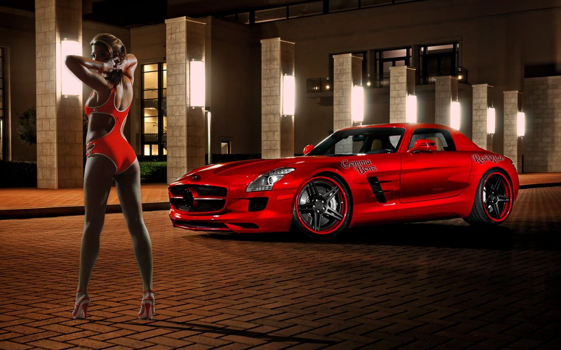 Gemma Red Benz wallpaper