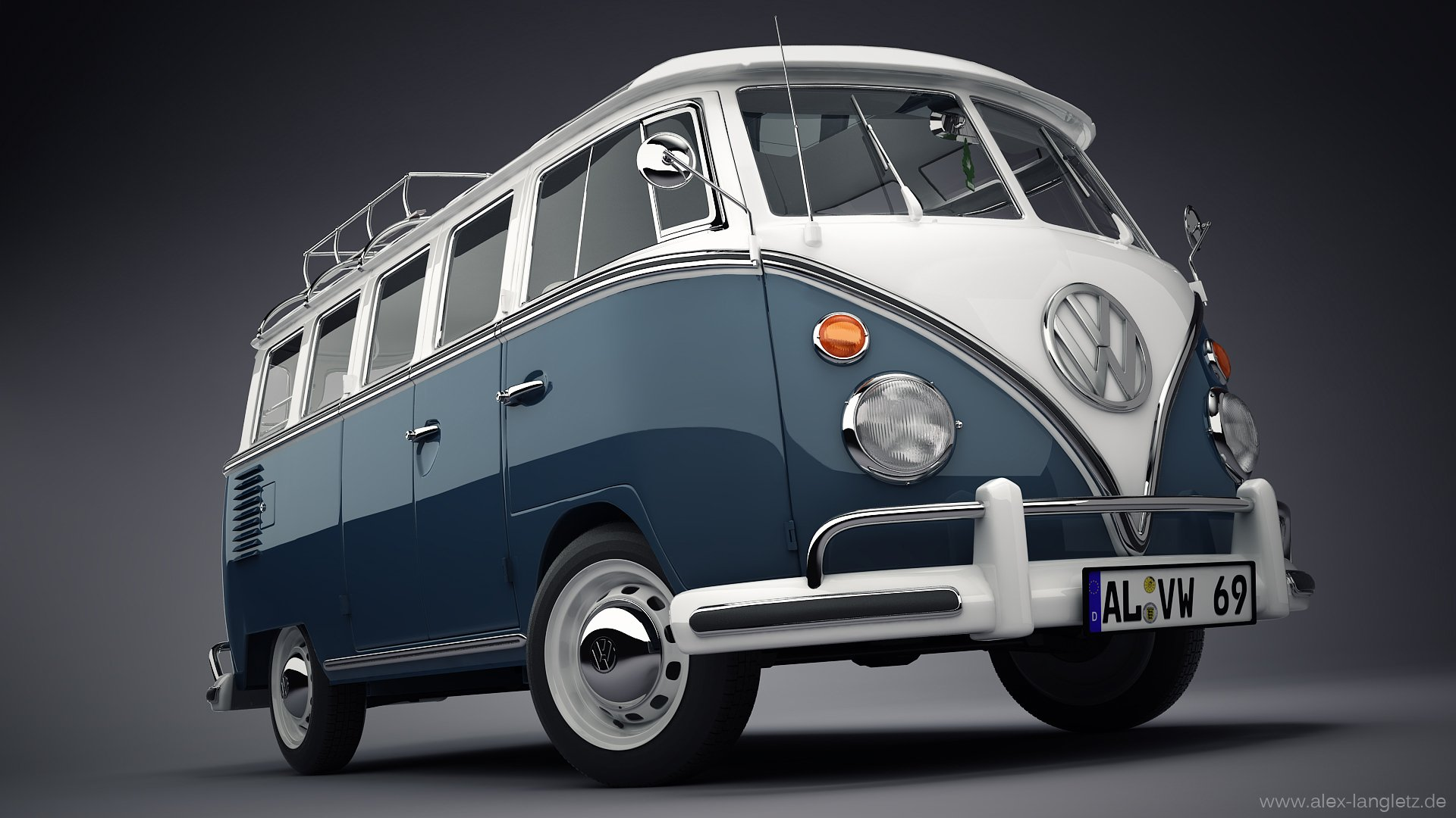 VW Bus Studio Wallpaper