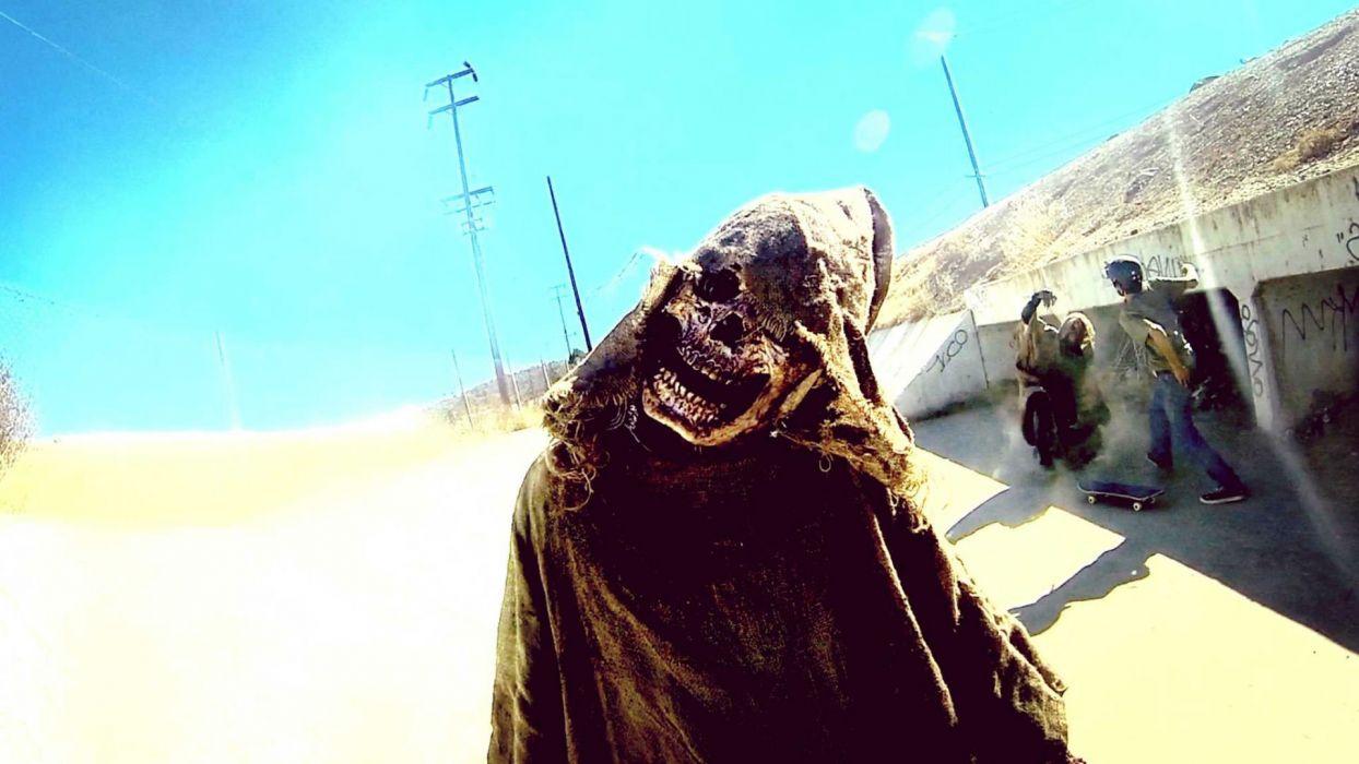 VHS VIRAL horror thriller dark 1vhsvirul monster evil reaper grim skull wallpaper