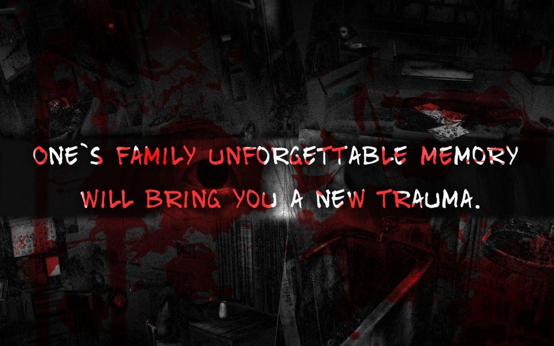 GRUDGE horror mystery thriller dark evil demon ghost ju-on poster blood wallpaper