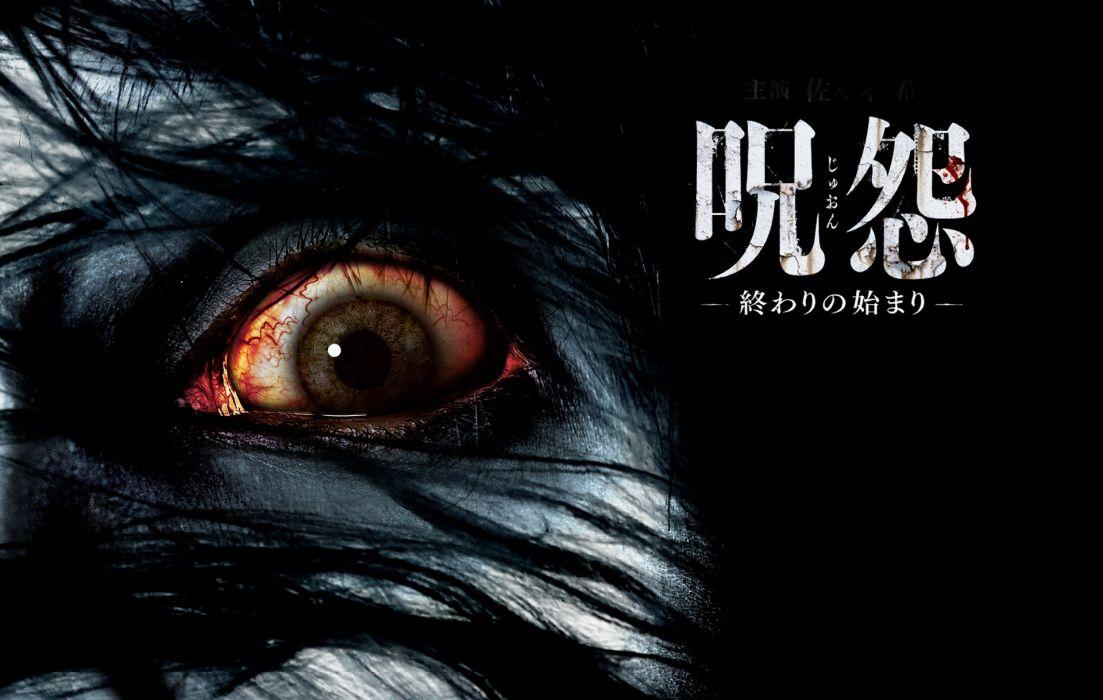 GRUDGE horror mystery thriller dark evil demon ghost ju-on poster wallpaper