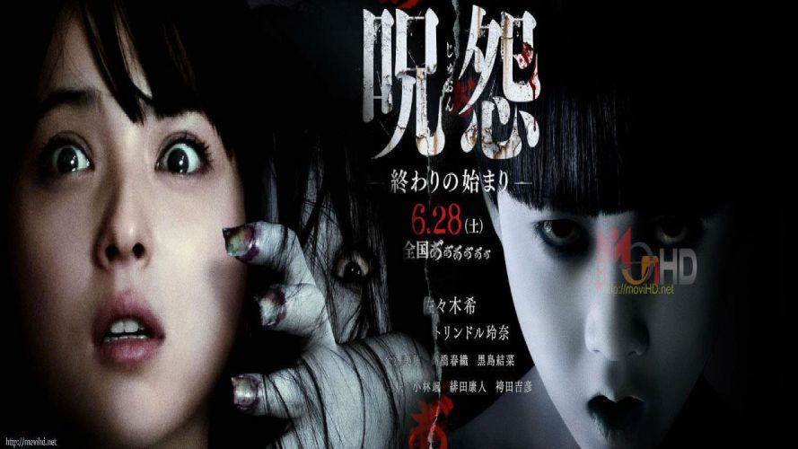 GRUDGE horror mystery thriller dark evil demon ghost ju-on poster wallpaper
