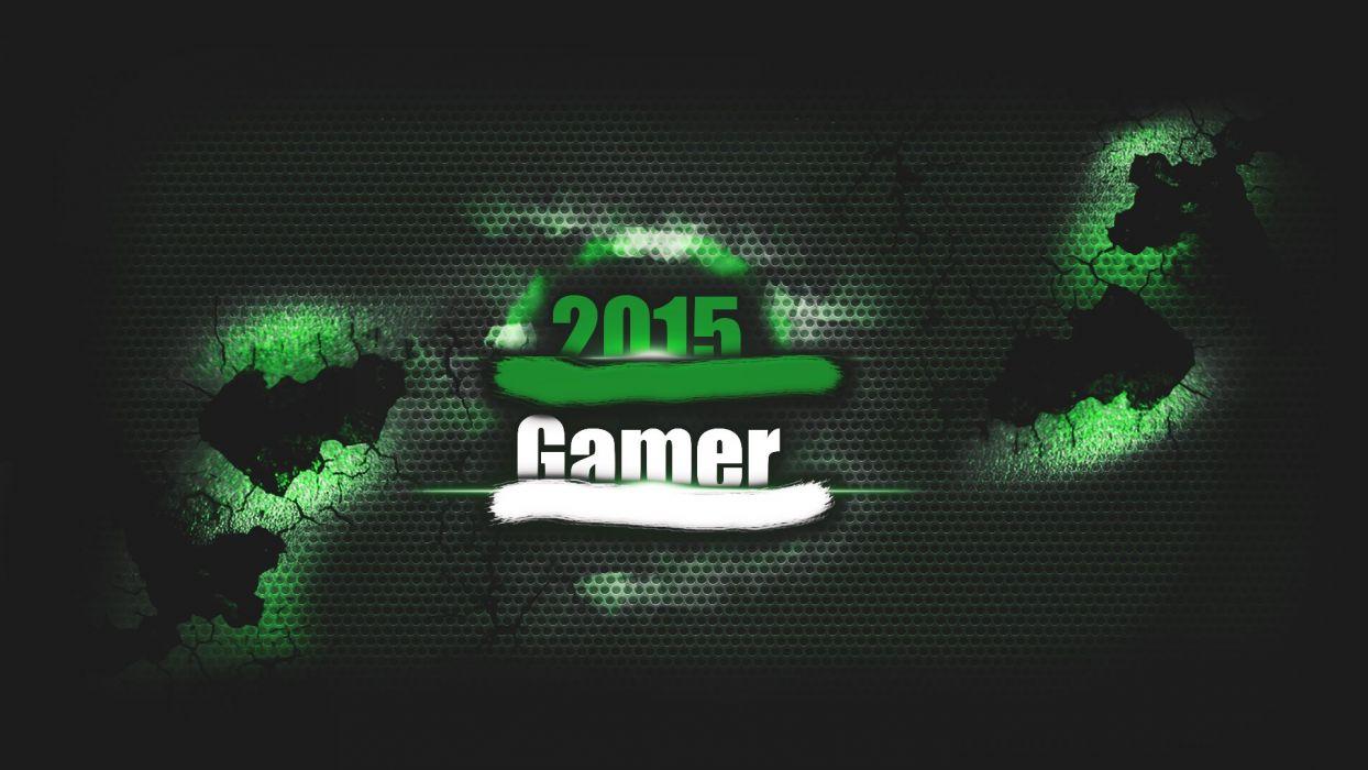2015 Gamer Green wallpaper