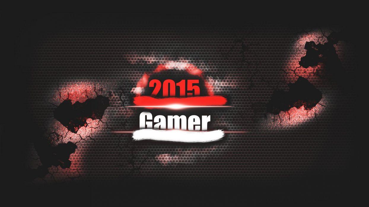 2015 Gamer Red wallpaper