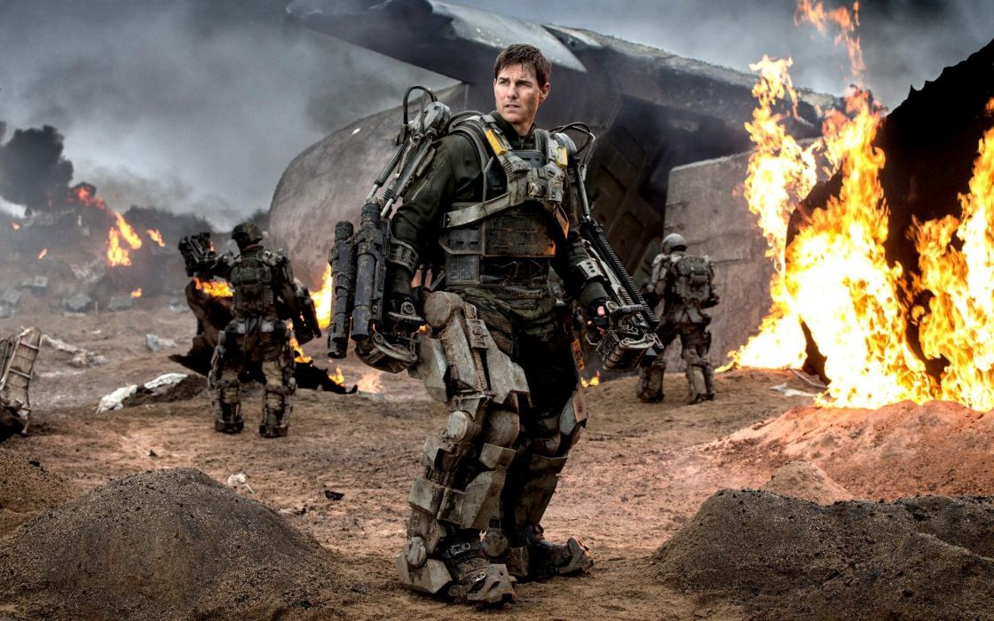EDGE OF TOMORROW action sci-fi warrior military thriller wallpaper