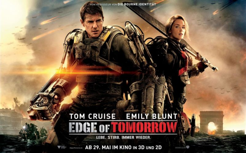 EDGE OF TOMORROW action sci-fi warrior military thriller poster wallpaper