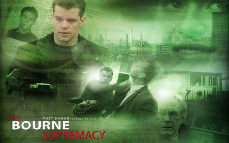 BOURNE SUPREMACY action mystery thriller spy hitman poster wallpaper
