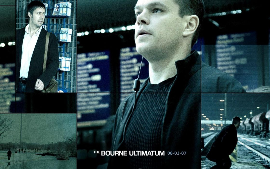 BOURNE ULTIMATUM action mystery thriller spy hitman poster wallpaper