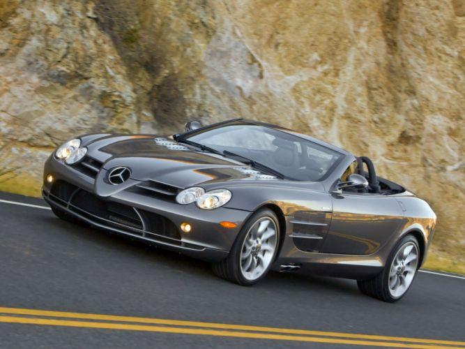 2008 Mercedes Benz SLR McLaren Roadster US-spec R199 supercar wallpaper