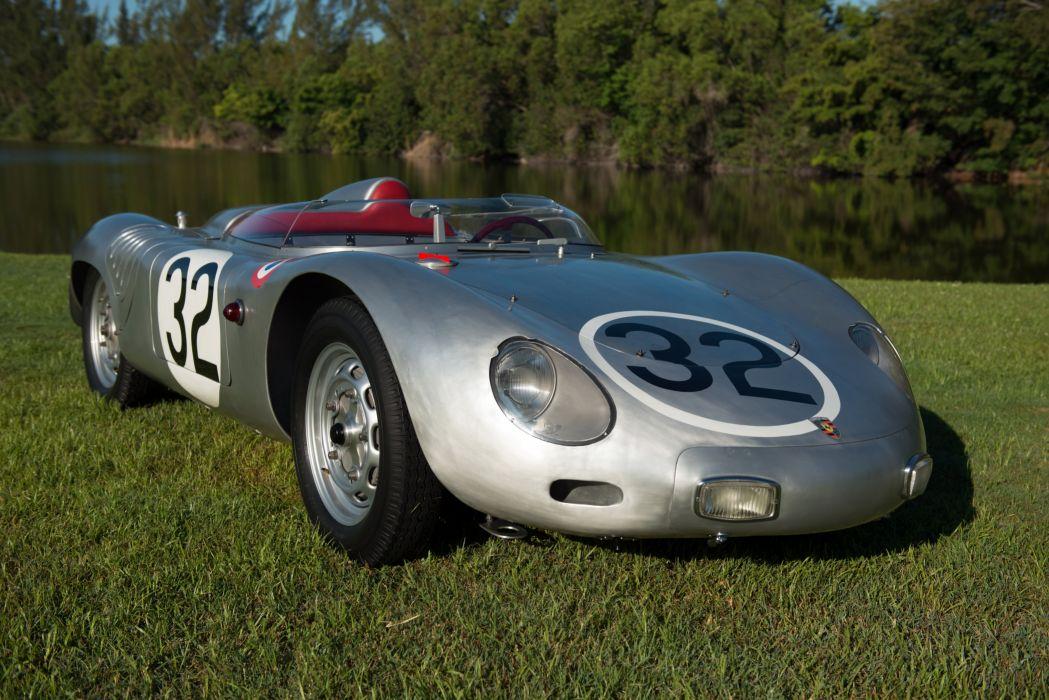 1958 Porsche 718 RSK race racing retro wallpaper