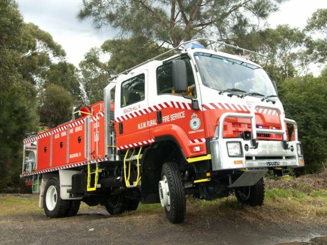 Isuzu FTS800 4x4 firetruck emergency offroad fire semi tractor wallpaper
