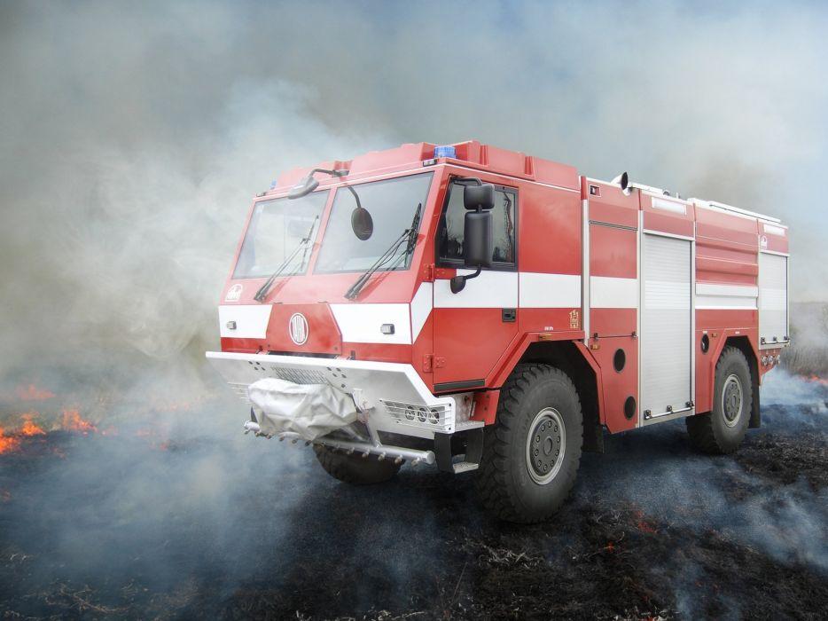 Tatra T815-721R52 4x4 firetruck fire emergency aircraft semi tractor wallpaper