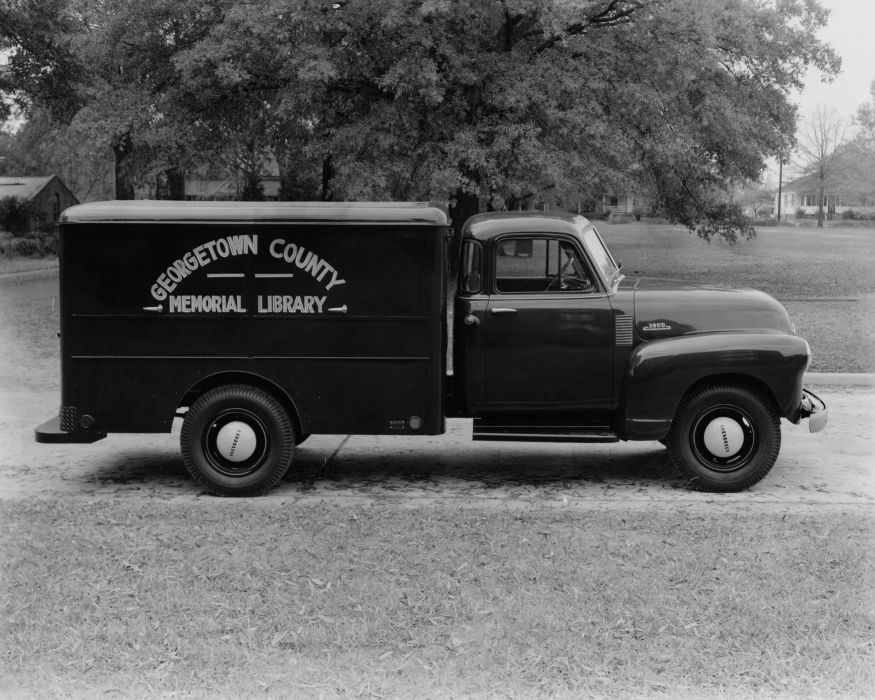 1953 Chevrolet 3800 Bookmobile school book retro pickup van wallpaper