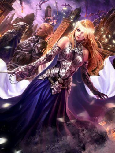 warrior girl fantasy wallpaper