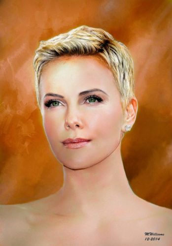 charlize theron painting art wallpaper