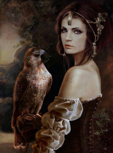fantasy girl animal wallpaper