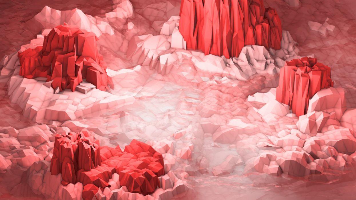 Cristal red wallpaper