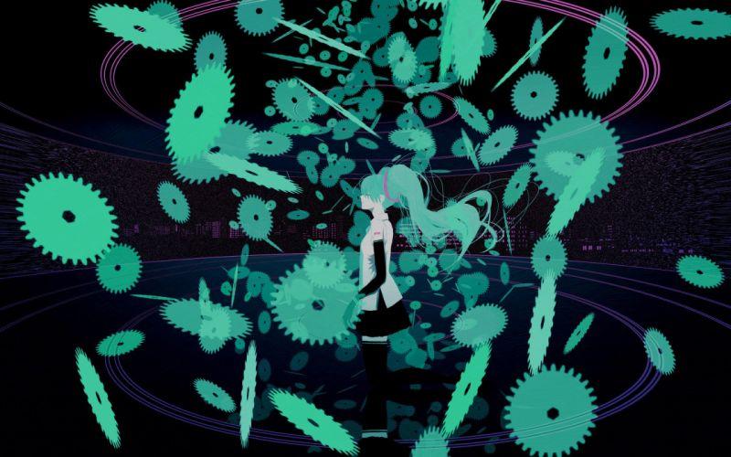Hatsune Miku Vocaloid anime girl beauty sweet cute lovely beautiful wallpaper
