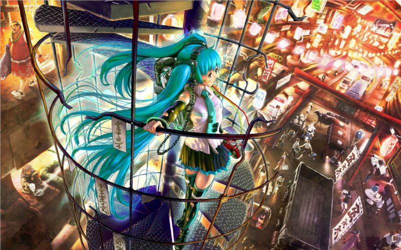 Hatsune Miku Vocaloid anime girl beauty sweet cute lovely beautiful wallpaper