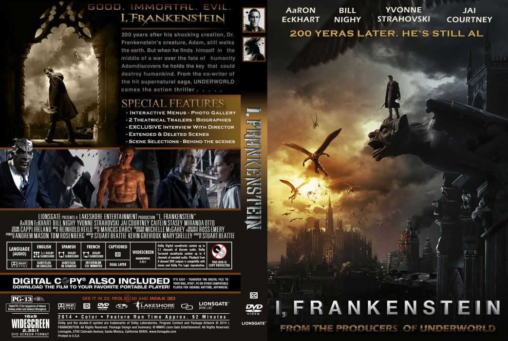 I-FRANKENSTEIN supernatural dark horror action 1frankenstein frankenstein sci-fi fantasy poster wallpaper
