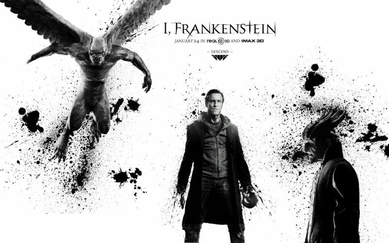 I-FRANKENSTEIN supernatural dark horror action 1frankenstein frankenstein sci-fi fantasy poster wallpaper