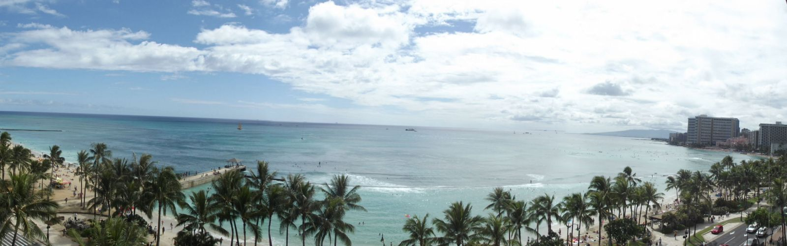 View from Waikiki Beach Hawaii wallpaper