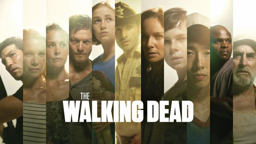 WALKING DEAD horror series dark zombie apocalyptic thriller drama poster wallpaper