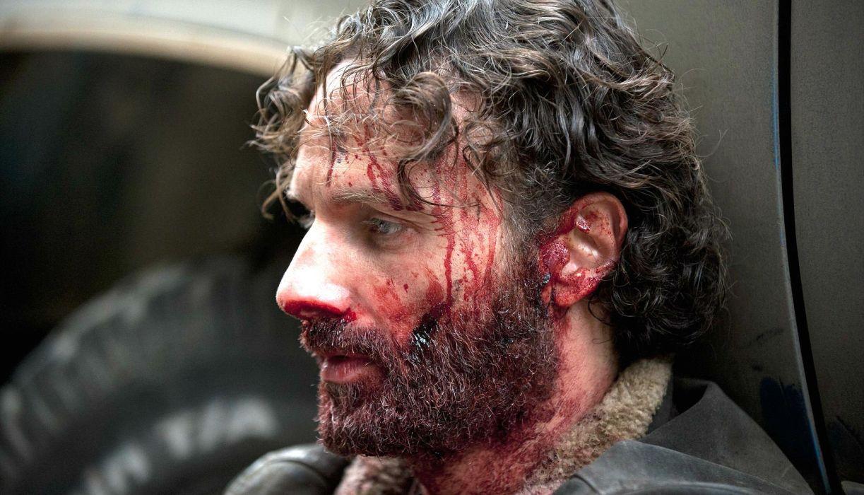 WALKING DEAD horror series dark zombie apocalyptic thriller drama blood wallpaper