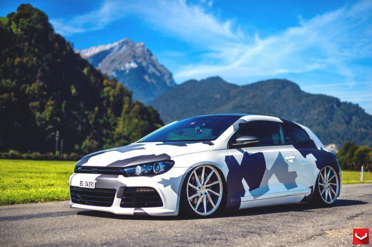 Scirocco vossen wheels tuning cars wallpaper