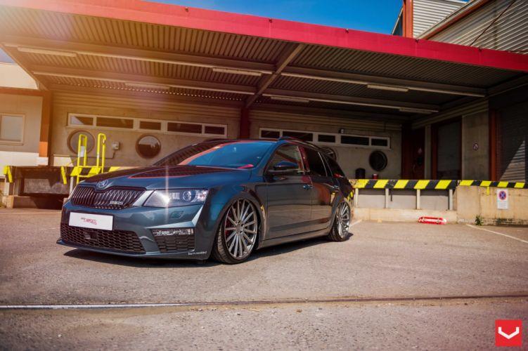 Skoda Octavia RS2 vossen wheels tuning cars wallpaper