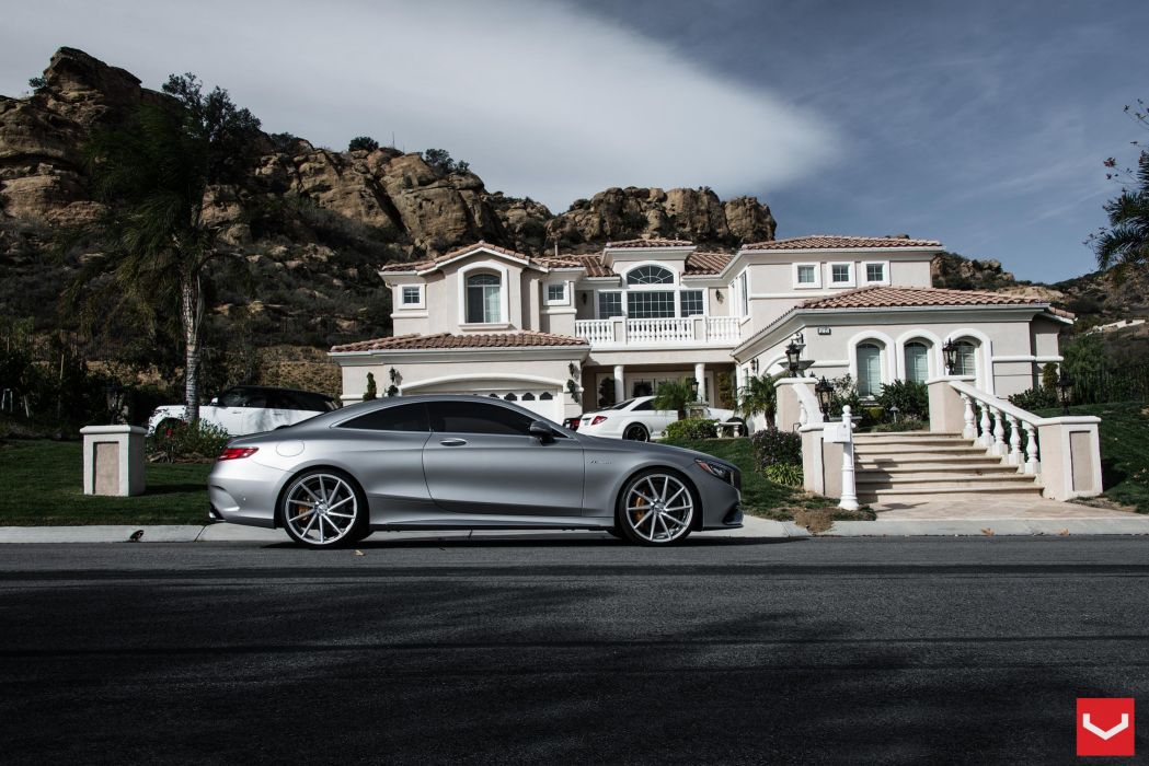 Mercedes Benz S63 Coupe vossen wheels tuning cars wallpaper