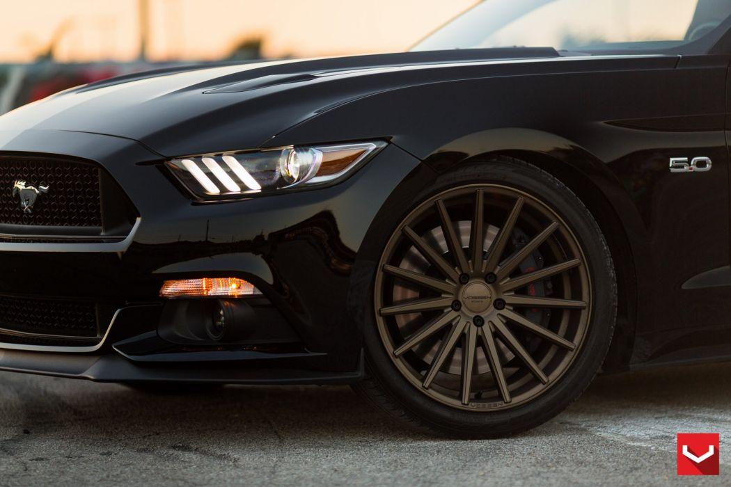 Ford Mustang vossen wheels tuning cars wallpaper