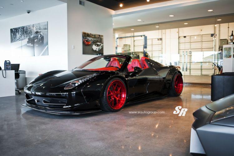 Liberty Walk body kit Ferrari 458 spider tuning cars wallpaper
