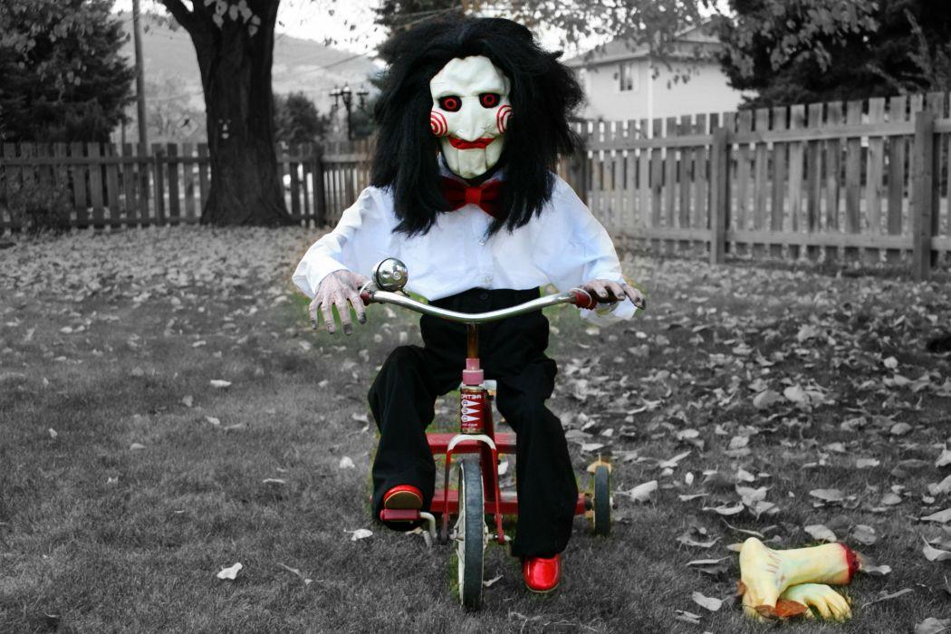 SAW horror dark thriller evil 1saw mask clown wallpaper