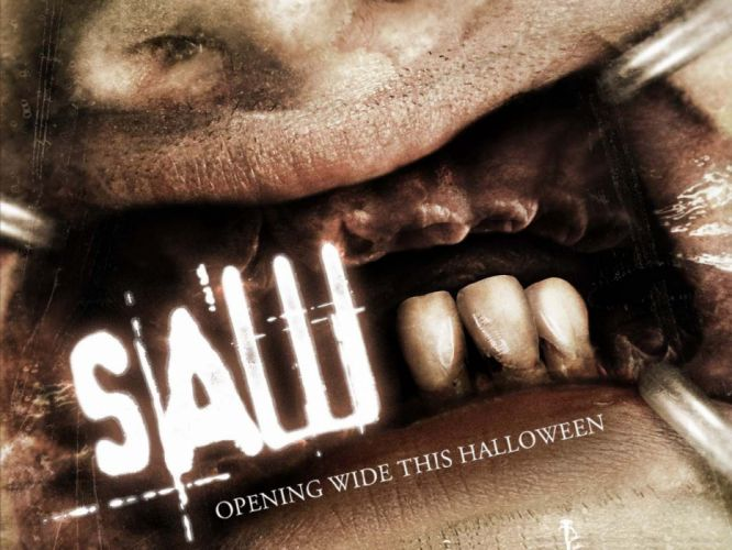 SAW horror dark thriller evil 1saw poster wallpaper