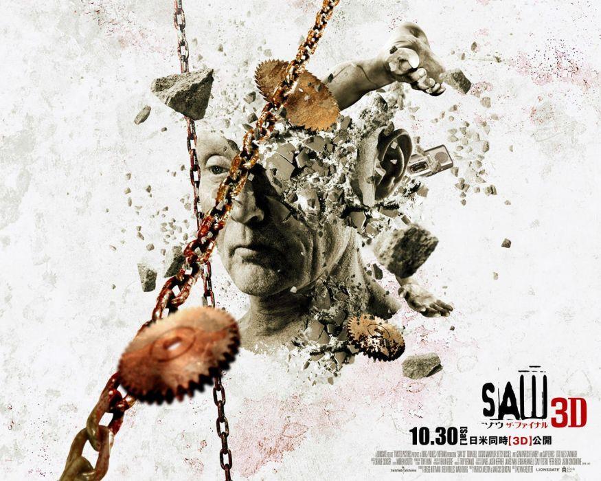 SAW horror dark thriller evil 1saw poster wallpaper