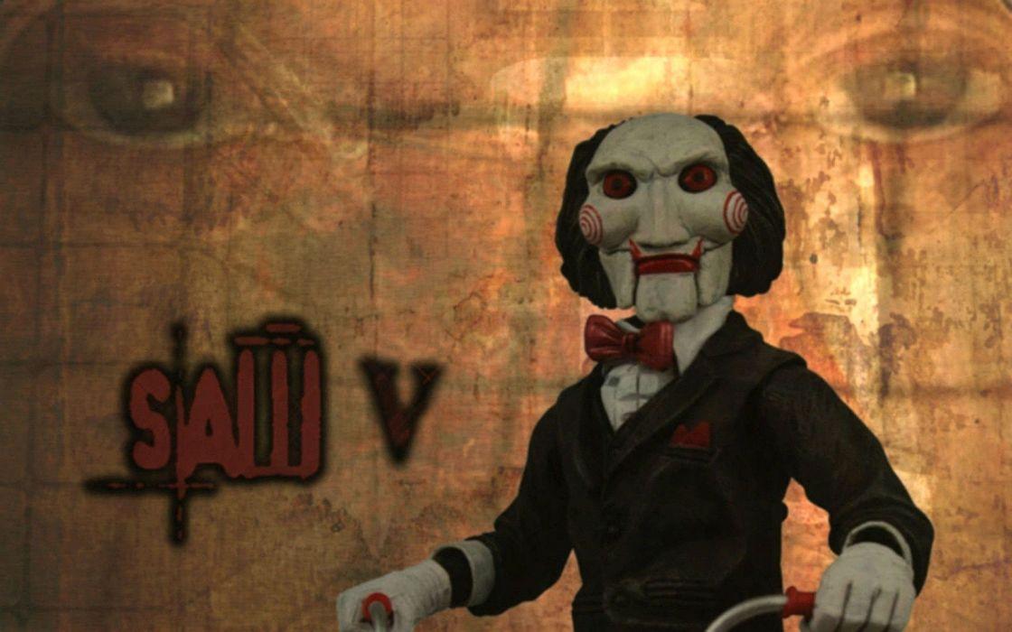 SAW horror dark thriller evil 1saw poster clown wallpaper