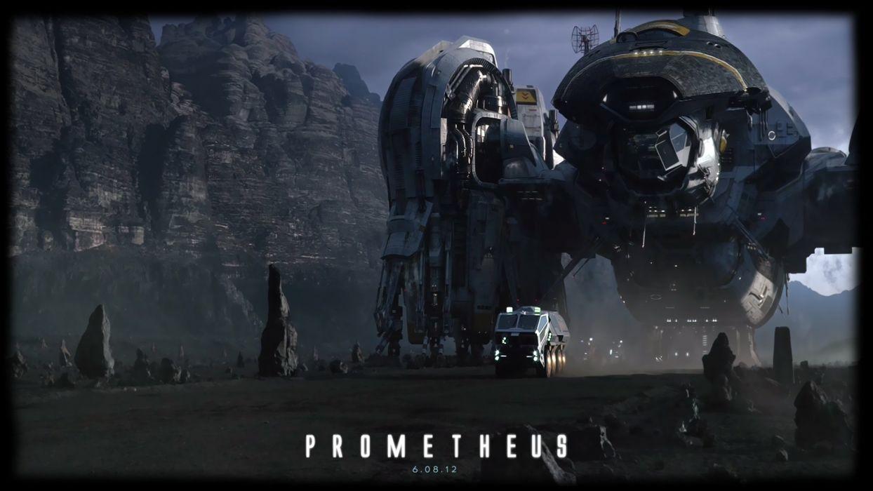PROMETHEUS adventure mystery sci-fi futuristic spacship poster wallpaper