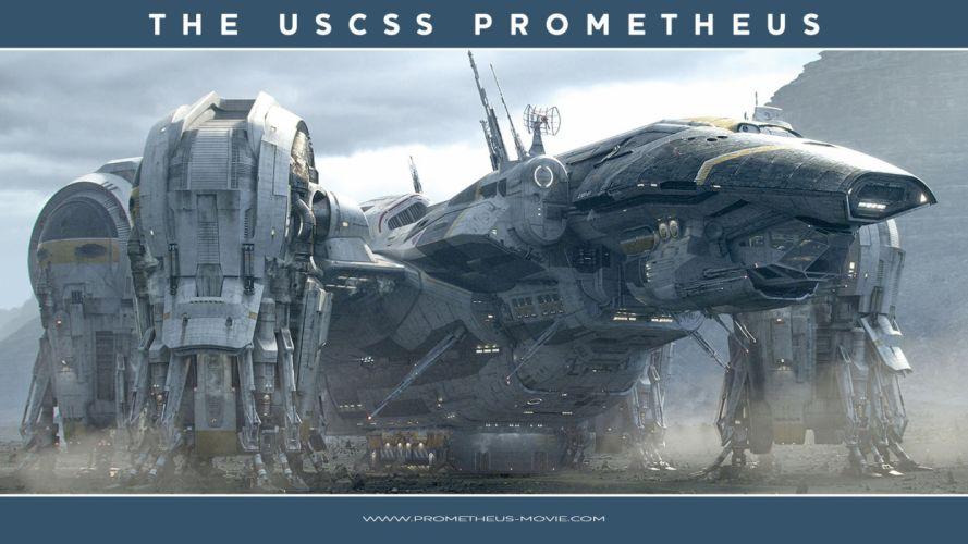 PROMETHEUS adventure mystery sci-fi futuristic poster spaceship wallpaper