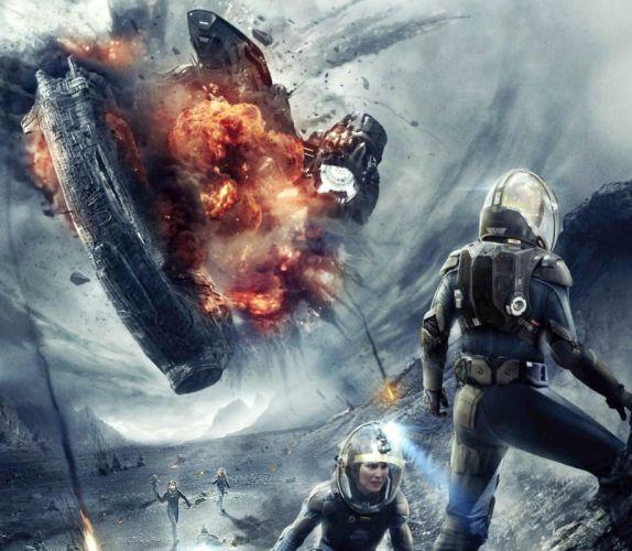PROMETHEUS adventure mystery sci-fi futuristic spaceship astronaut wallpaper