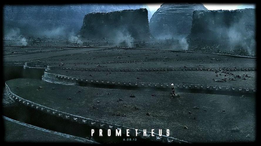 PROMETHEUS adventure mystery sci-fi futuristic poster wallpaper