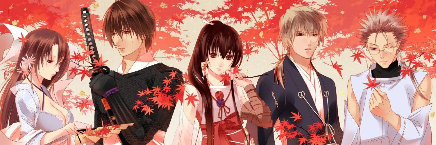 anime series GetBackers group guy girl couple wallpaper
