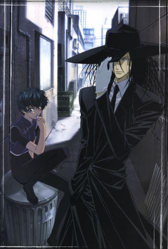 GetBackers girl anime series long hair beautiful boy suit couple wallpaper