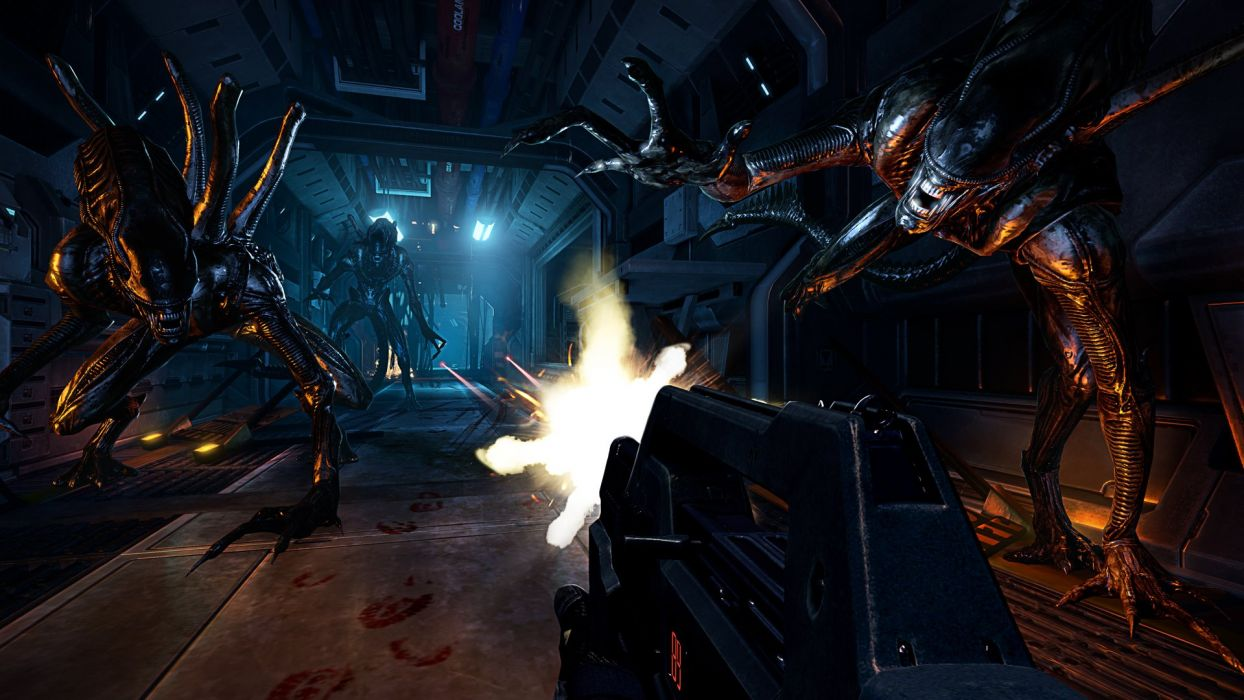 ALIENS COLONIAL MARINES sci-fi action shooter fighting alien futuristic wallpaper