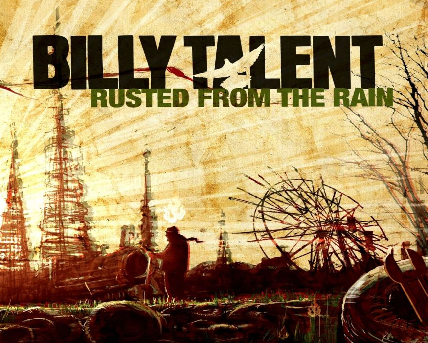 BILLY TALENT punk rock hardcore alternative 1billytalent canadian poster psychedelic fantasy wallpaper