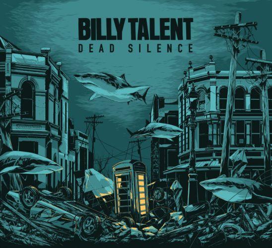 BILLY TALENT punk rock hardcore alternative 1billytalent canadian poster psychedelic shark wallpaper