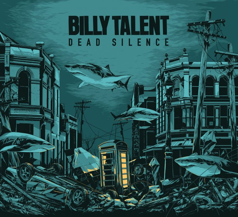 BILLY TALENT punk rock hardcore alternative 1billytalent canadian poster psychedelic shark wallpaper