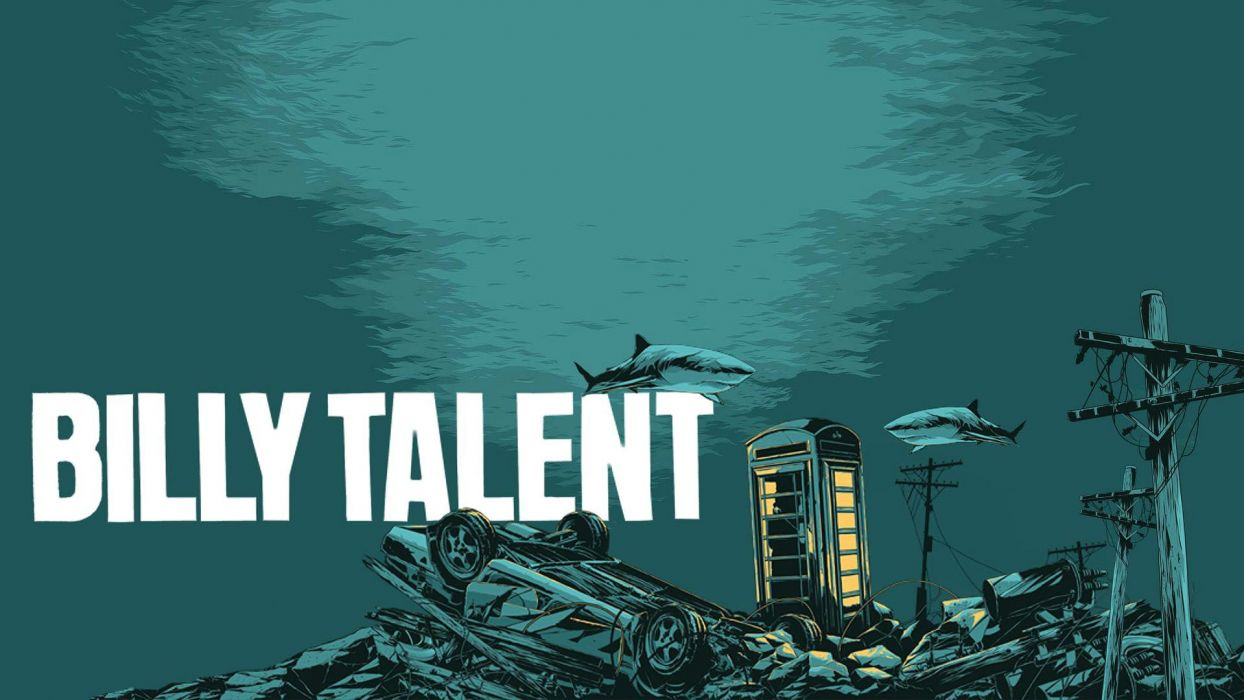 BILLY TALENT punk rock hardcore alternative 1billytalent canadian poster shark wallpaper