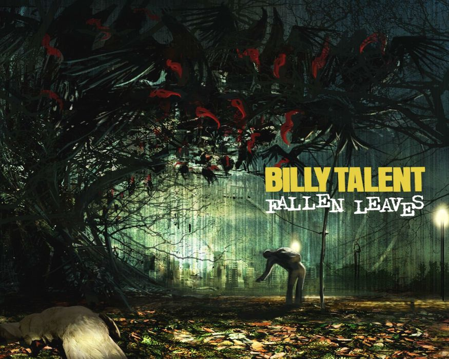 BILLY TALENT punk rock hardcore alternative 1billytalent canadian poster autumn fall mood rain dark wallpaper