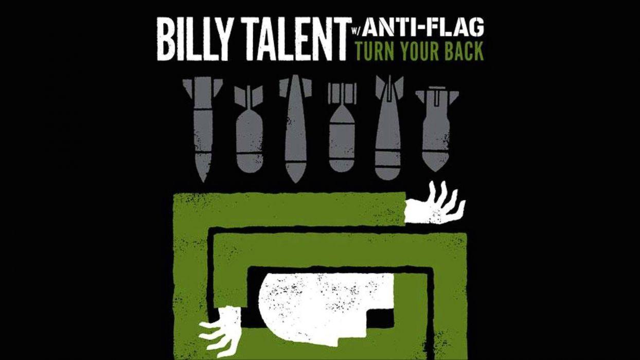 BILLY TALENT punk rock hardcore alternative 1billytalent canadian poster wallpaper